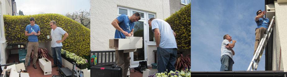 Swift box being put up