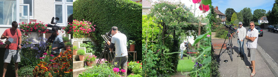 BBC camaramen | Cameraman Ian in garden | Ian and Mark
